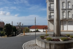 Panoramic view of the street and town centre