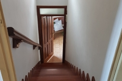 Stairs from first floor to attic